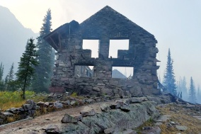 Sperry Chalet in Glacier National Park was destroyed by fire, August 2017.